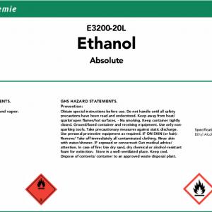 Ethanol Absolute 20L - SMART-Chemie