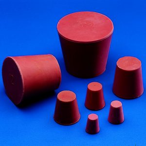 CONICAL STOPPERS - Red Rubber - Solid   | 12 x 9 mm