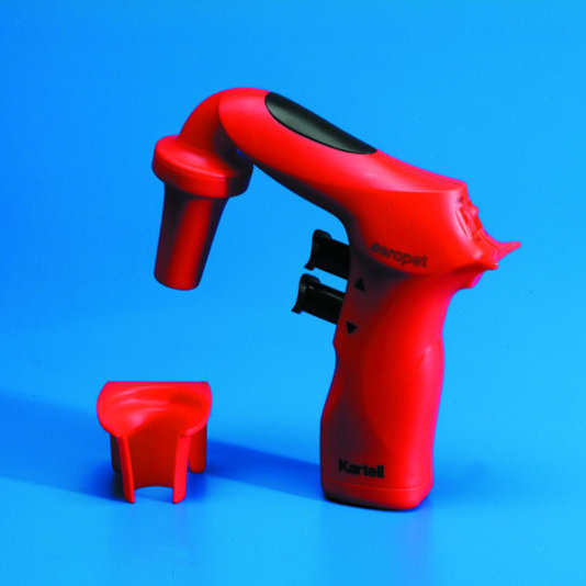 'Seropet' PIPETTING AID complete with 240 Volt Battery Recharger to suit all 1 to 100 ml capacity Pipettes etc. | * Red *
